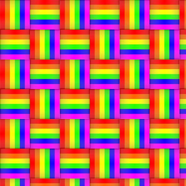 Tileable Rainbow Weave Patterns