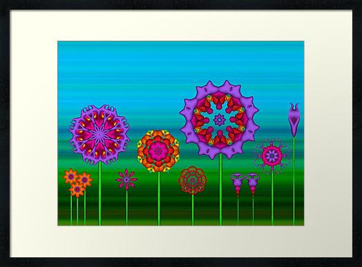 Fractal Flower Garden Print