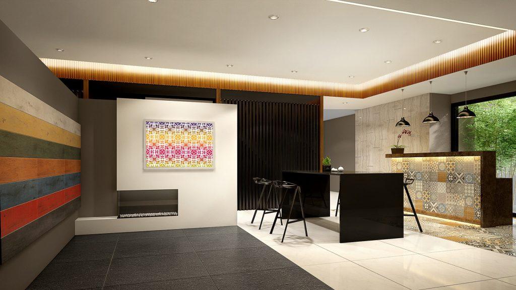 Batik White Print on Wall