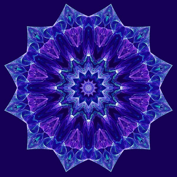 Purple and Blue Mandala