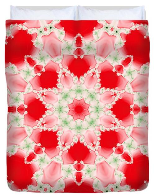 Watercolor Snowflake Duvet Cover