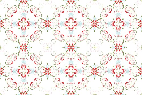 Christmas Swirl Pattern 01