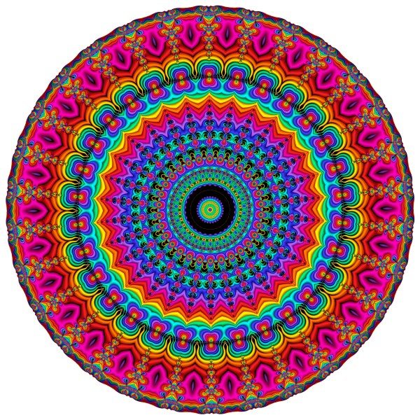 Super Rainbow Mandala