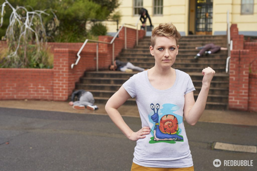 Larry the Snail on Tshirt